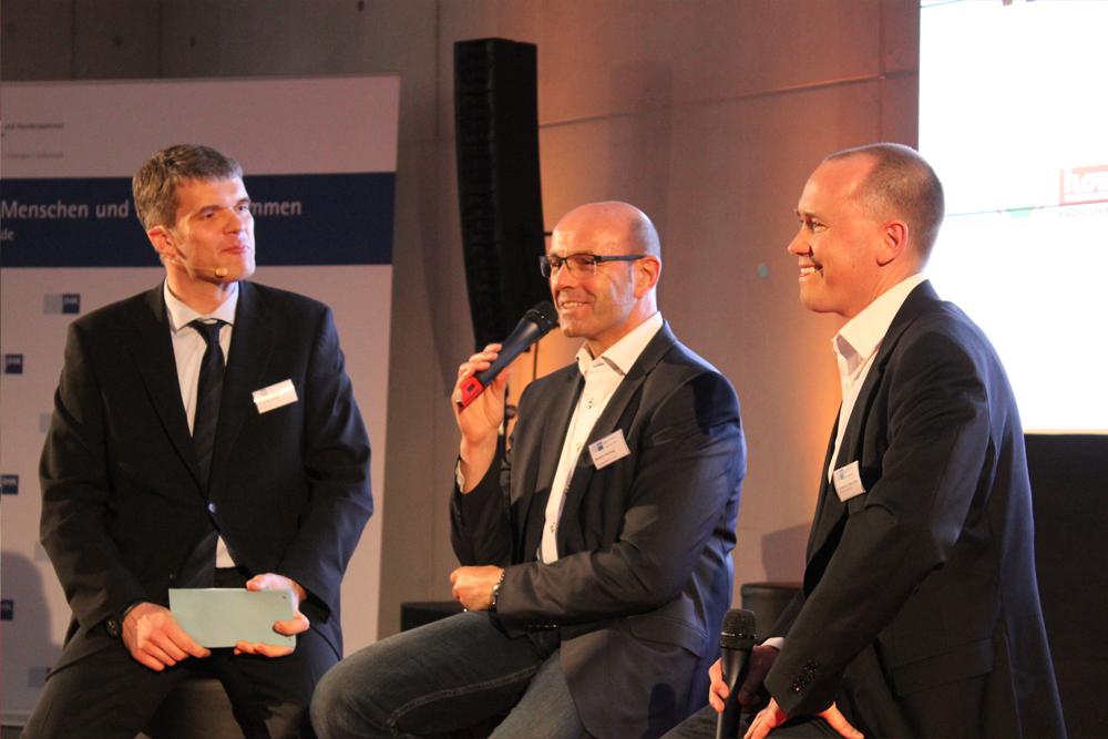 Christoph Heise, Bertram Hornung und Johannes Neureuther